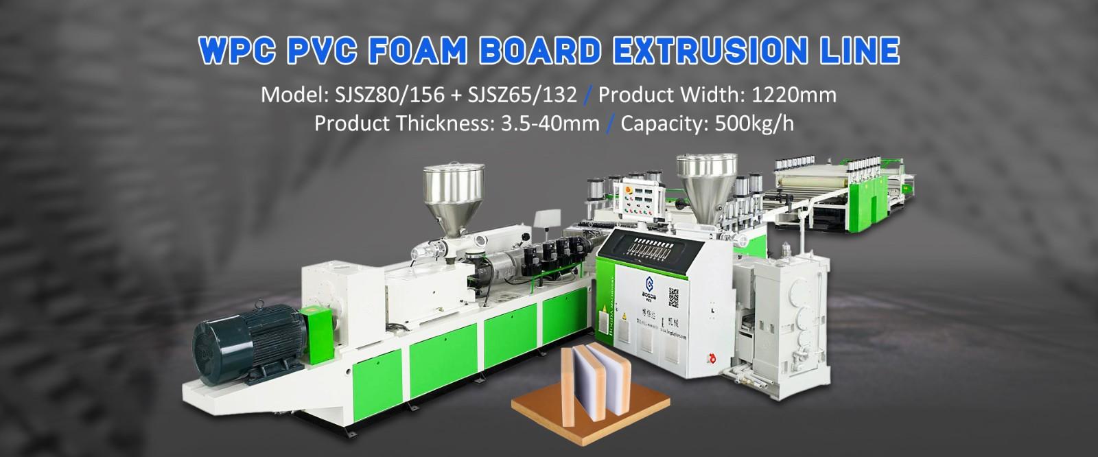 WPC PVC Foam Board Extrusion Line