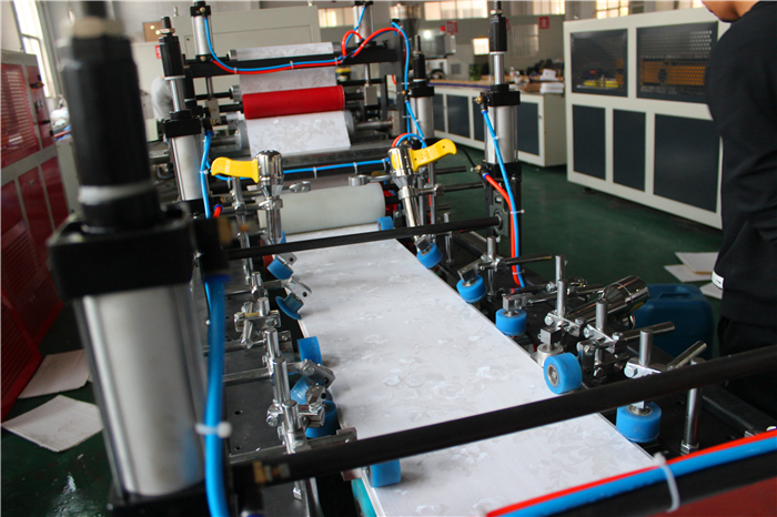 PVC Ceiling Panel Making Machine with Online Printing / PVC Ceiling Machine