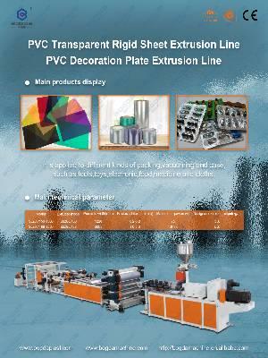 BOGDA Manufacture PVC  Transparent Rigid Sheet Extrusion Line