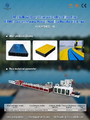 PE HDPE Hollow Board Extrusion Line Plastic Marine Pedal Plate Production Line