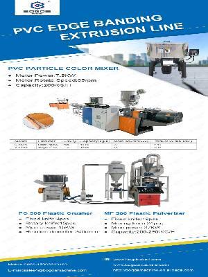 BOGDA PVC Edge Banding Profiles Single Screw Extrusion Production Line
