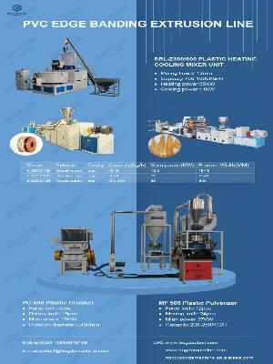 BOGDA Furniture Decoration Plastic Profiles Making Machine Pvc Edge Banding Double Screw Extrusion Production Line