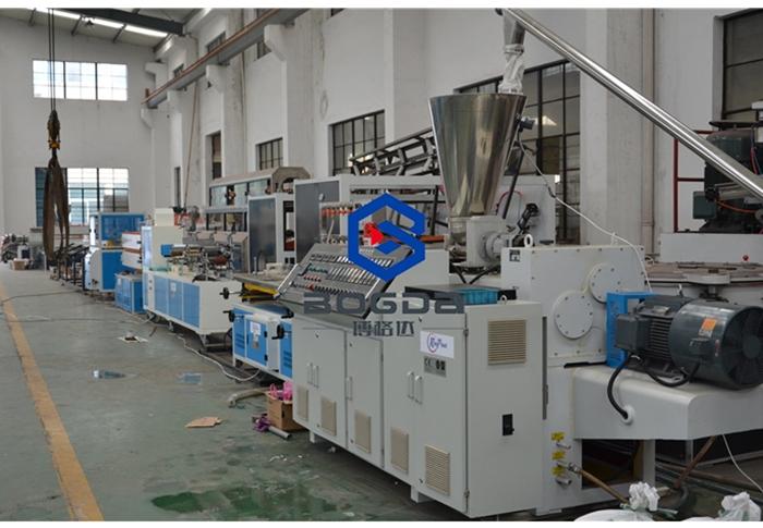 BOGDA PVC WPC floor skirting board foam baseboard extruder PVC profile extruder machine