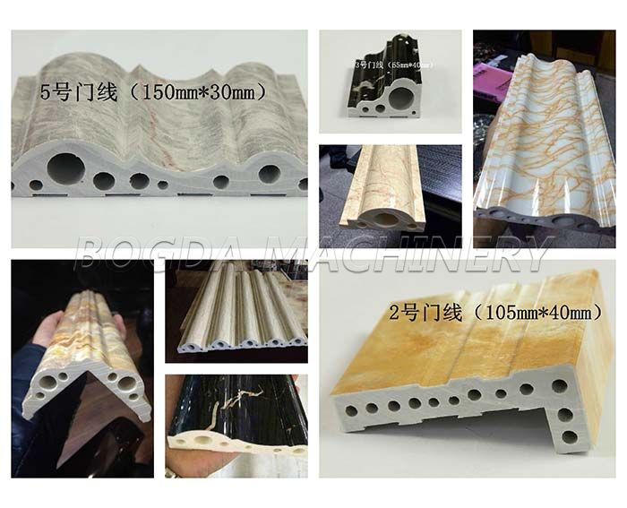 PVC Artificial Marble Stone Profile Production Extrusion Line