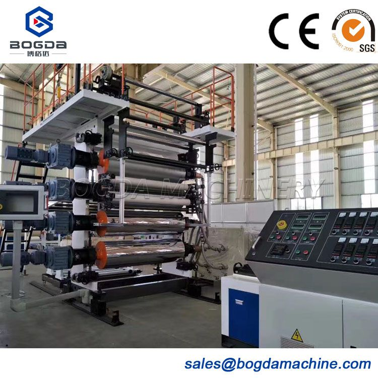 PVC plastic vinyl floor production line / Stone PVC floor extrusion machinery