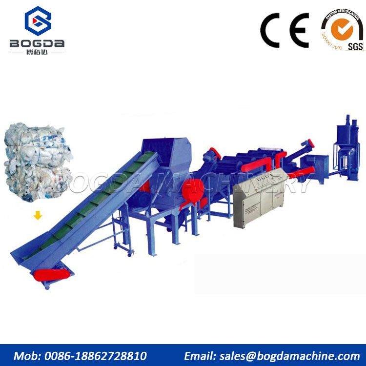Waste Plastic PP PE Film Recycling Machine/PE Film Washing Line