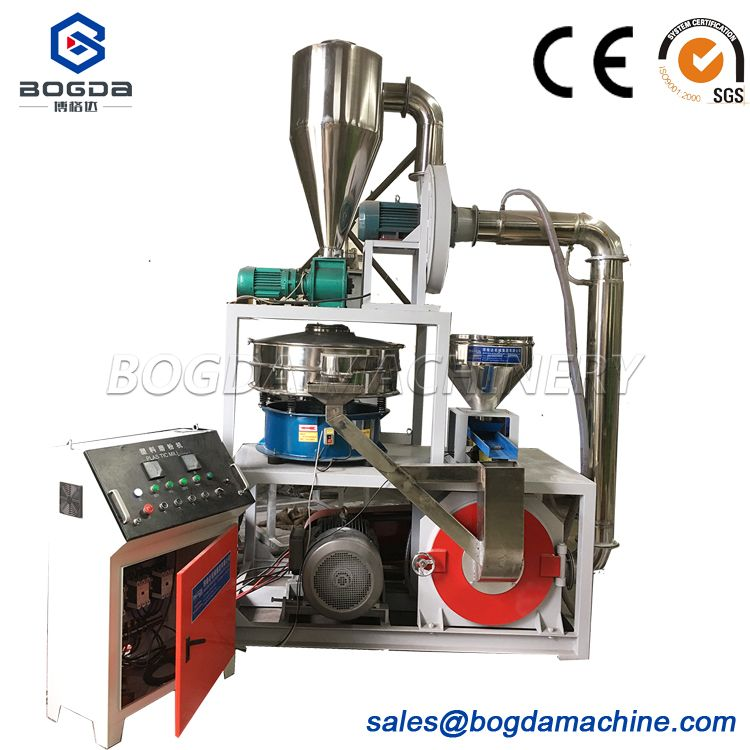 Plastic Powder Grinding Pulverizer Machine Price For PVC/PP/ABS/TPU/EVA