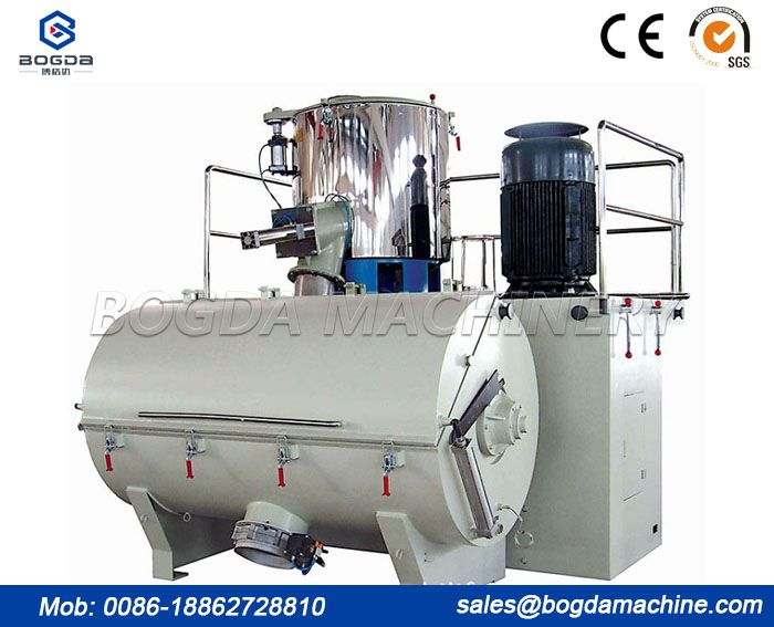 SRL-W Series 2000KG/H High Output Plastic Raw Material horizontal plastic color mixer/horizontal concrete mixer