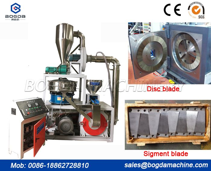 Disc PP PE plastic pulverizer mill machine