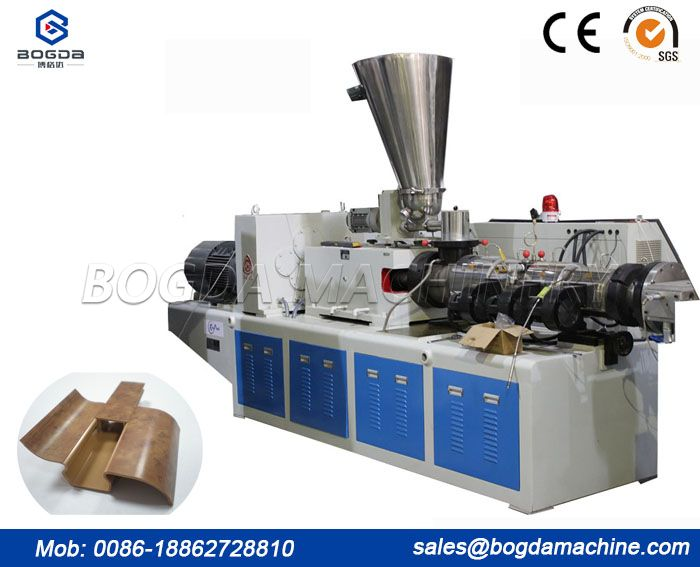 BOGDA PVC WPC floor skirting board foam baseboard extruder PVC profile extruder machine