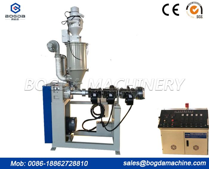 Plastic PP PE PPR PC ASA Pipe / Profile Single Screw Extruder Lab Extruder