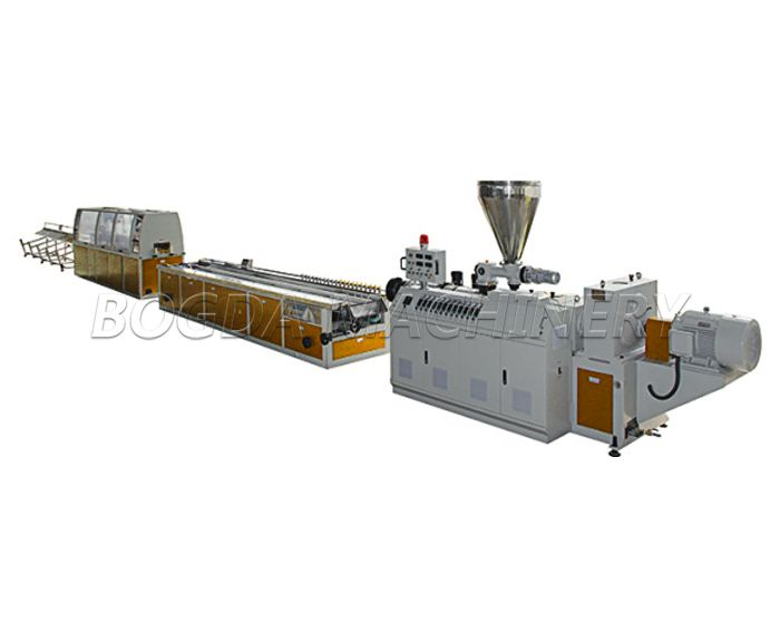 WPC PVC Profiles Plastic Panels Making Machine