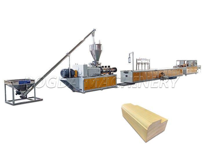 PVC WPC Wood-plastic Composite Door Frame Profiles Extrusion Production Line