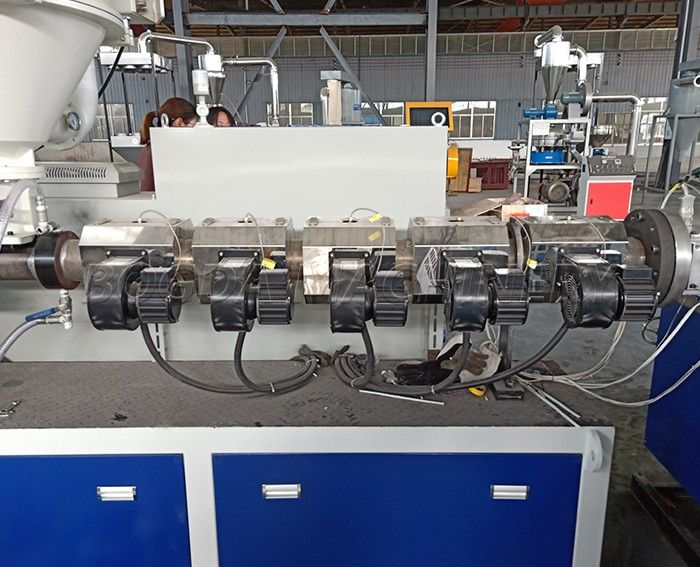 HDPE Profile Extrusion Line with online punching rewinding