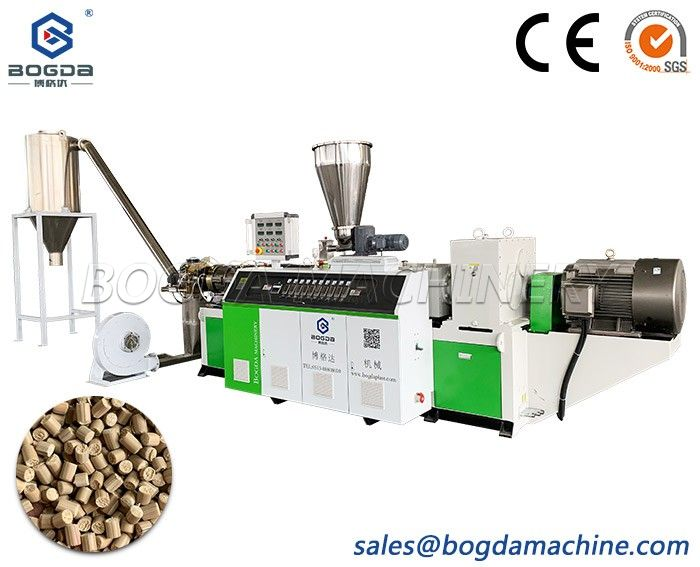 High Capacity Plastic PVC Powder Granulation Pellet Making Extrusion Machine Line