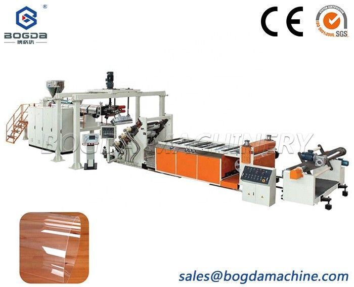 BOGDA Manufacture Clear Transparent PET APET PETG CPET Anti-scratch Sheet Production Line