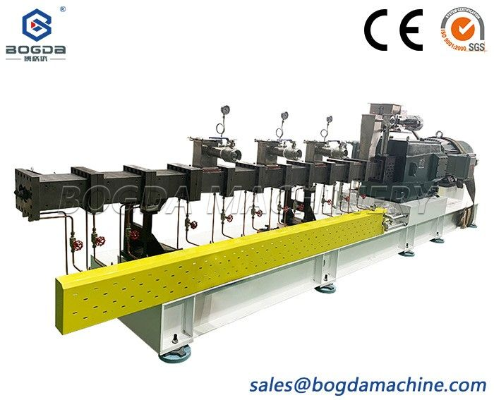 75 Parallel Twin-screw extruder for PET transparent sheet production line plastic extrusion line