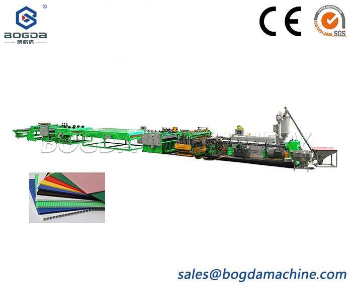 Machine Plastic Construction Profile PP Hollow Sheet Extrusion Line For Sale