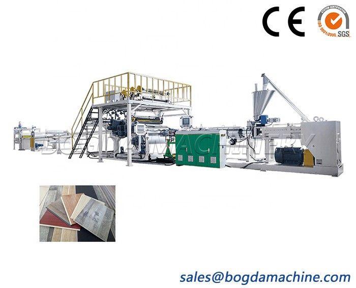 LVT/SPC /PVC stone plastic flooring making machine