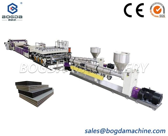 Plastic PP Hollow Construction Building Formwork Template Board Extrusion Making Machines Equipment