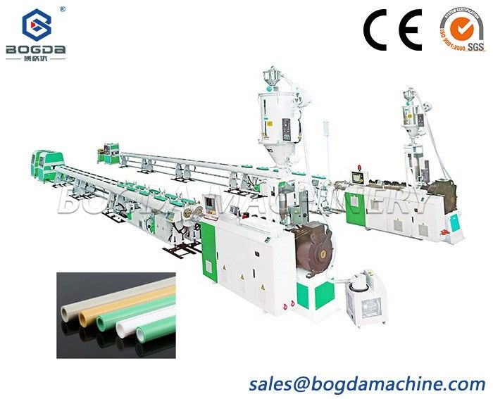BOGDA Double Strand Output PPR Pipes Extrusion Production Making Machine 20-63mm Pipe Diameter