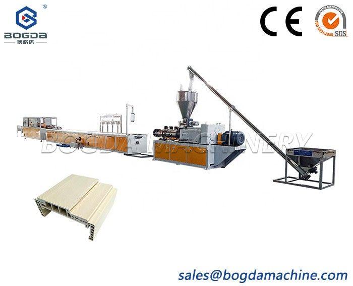 BOGDA WPC PVC Vinyl Door Jambs Wood Plastic Door Frame Profiles Extrusion Machine Production Line