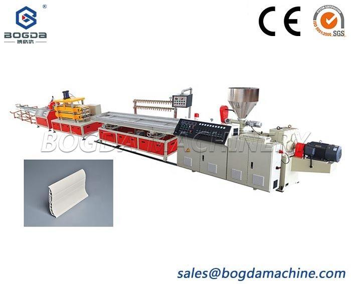 80*80mm Plastic PVC Floor Skirting Board Plinth Making Extrusion Machine Line