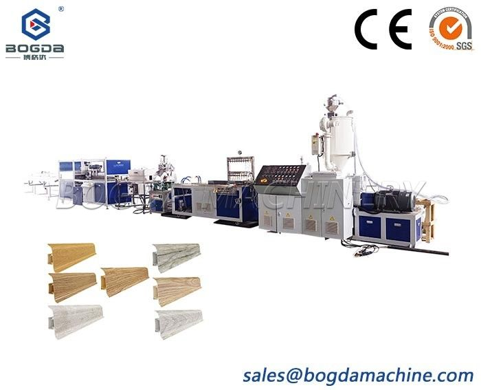 High Speed PVC Flooring Covering Skirting Board with Rubber Extrusion Line Making Machine