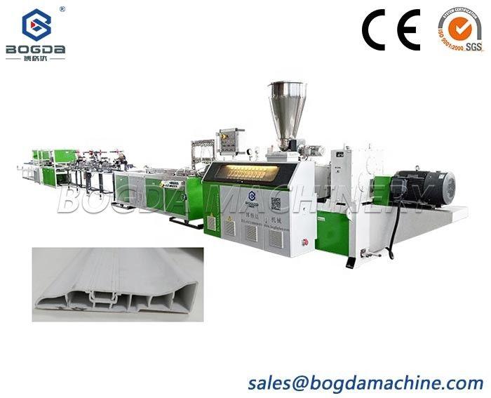 BOGDA Double Screw Extruder Type Plastic PVC Skirting Baseboard Extrusion Line Making Machine