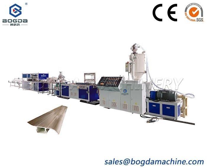 BOGDA Single Screw Extruder Machine Type PVC Profiles Skirting Board Production Line