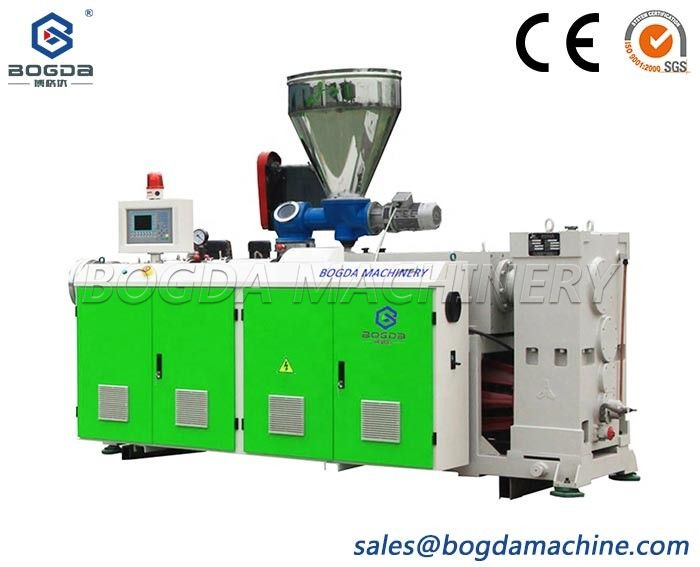 PVC Wall Panel Profile Extruder SJZ 51/105 Conical Double Screw Extruder