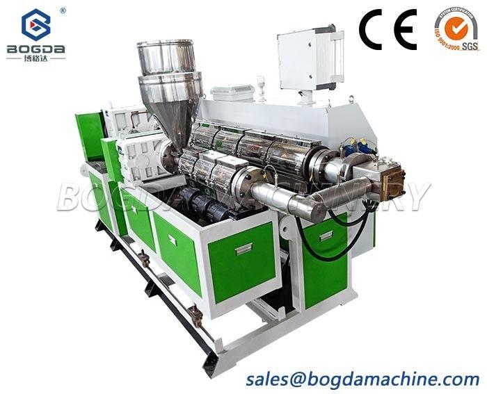 SJ-65 Plastic Polystyrene Single Screw Extrusion Extruder Machine For Decoration Profiles