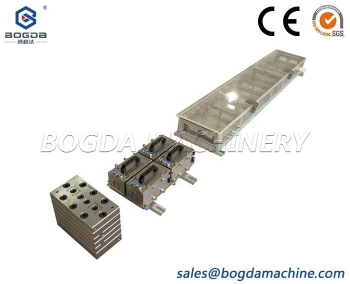 PVC Electric Cable Trunking Extrusion Tool Plastic Extrusion Mold Die With Vacuum Calibration Mold