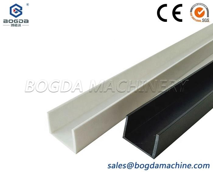 Custom Design U Shape PVC Channel Profiles Extrusion Die Mould For Display Cabinets Glass Door Window Edge Trim Protection