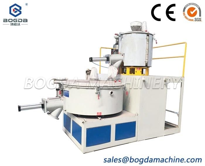 Vertical Type Hot & Cold Mixing System for plastic material high speed mixing