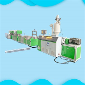 BOGDA is having an Alibaba online show about popular selling PE PP corner bead 4 cavities extrusion line