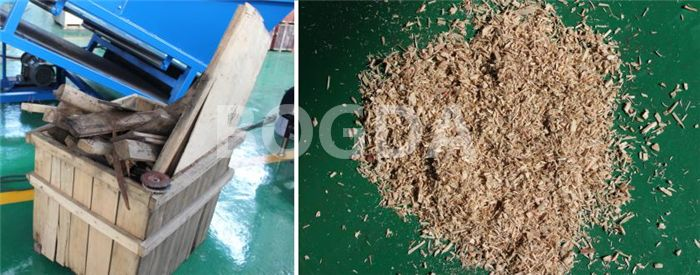 Waste Metal Tyre Plastic Wood Pallet Double Shaft Shredder Recycling Machine