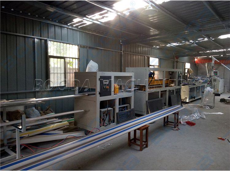 PVC Protective Armrest Hospital Corridor Handrails Profiles Extrusion Line